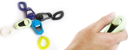 Big Button clicker with wrist band for Clicker training - click and train dog, cat, horse, pets,10 pack
