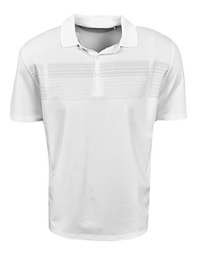 Callaway Performance Short Sleeve All Over Print Polo Shirt, Box Bright White, X-Large