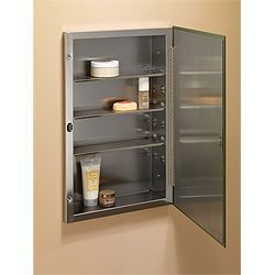 Broan-NuTone 868P24SS Frameless, beveled, stainless steel shelves
