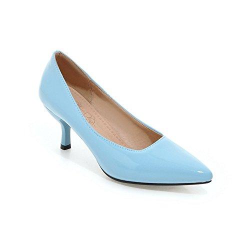 Balamasa Damene Pekte Tå Pull-on Low-cut Overdel Patent-lær Pumper-sko Blå