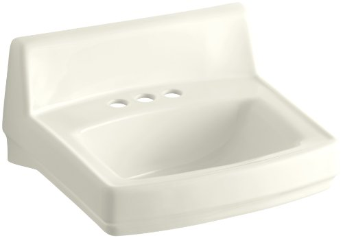 Kohler 2032-96 Ceramic Wall Mounted Square Bathroom Sink, 20.75 x 20.75 x 7.75 inches, -