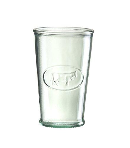Amici Hermetic Milk Glass, 11 oz - Set of 4