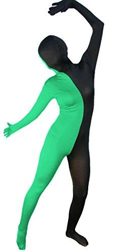 Split Black and Green Full Body