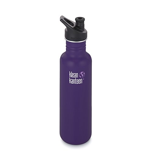 Klean Kanteen Classic Stainless Steel Bottle with Sport Cap, Berry Syrup - 40oz by Klean Kanteen