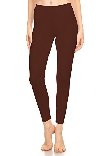 Stretch Cotton Bodysuit Activities Girls' Soft Cotton-Spandex Leggings Tights Stretch Skinny Full Length (Small(6), Brown_Prime) ()