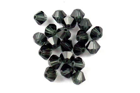 (Swarovski Crystal, 5301 Bicone Beads 4mm Emerald Satin, 48 pcs.)