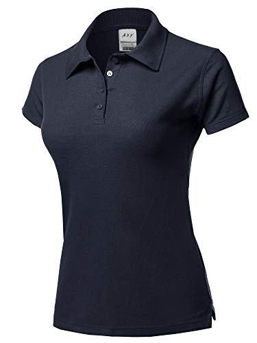 A2Y Basic Casual Essentials 4-Button Junior-Fit PK Cotton Pique Polo Shirt Navy S