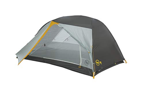 Big Agnes Tiger Wall UL2 mtnGLO Ultralight Backpacking Tent, 2 Person, Silver/Gray