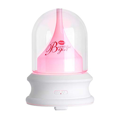 Beautiful Girl Air Humidifier, Witspace Room Air Freshener Car Essential Oil Diffuser Home Decor Creative Night Light Girl Gift-100ML (White)