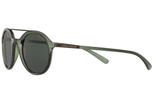 Giorgio Armani Sonnenbrille (AR8077) MATTE TRANSPARENT GREEN WITH GREYGREEN LENS