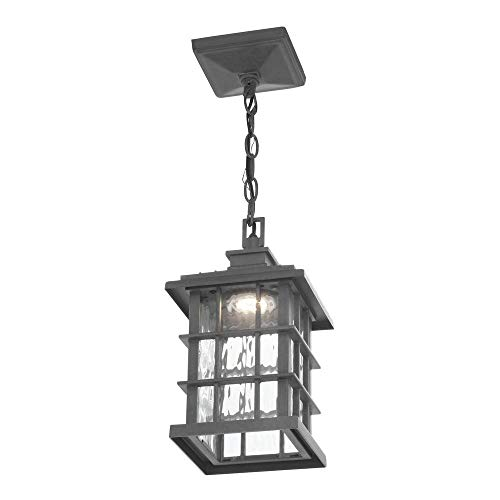 Home Decorators Collection Summit Ridge Collection Zinc Outdoor Integrated LED Hanging Lantern