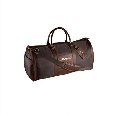 Andrew Philips Leather Metro Convertible Duffel Garment Bag Black