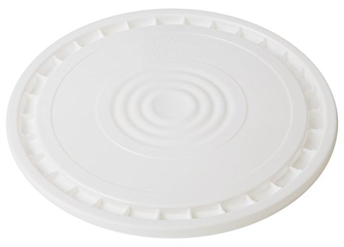 (Hudson Exchange Reusable Easy Peel Lid for 3.5, 5, 6, and 7 gal Buckets, HPDE, White)