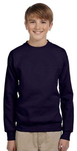 (Hanes Boys Comfortblend EcoSmart Crewneck Sweatshirt, Medium, Navy)