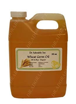 Wheat Germ Oil Unrefined Cold Pressed Organic Pure by Dr.Adorable 32 Oz/1 Quart