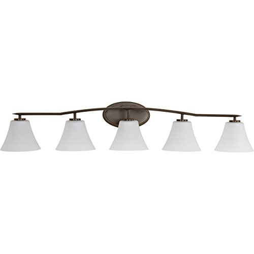 Progress Lighting P2016-20W Contemporary/Soft 5-100W Med Bath Bracket, Antique Bronze