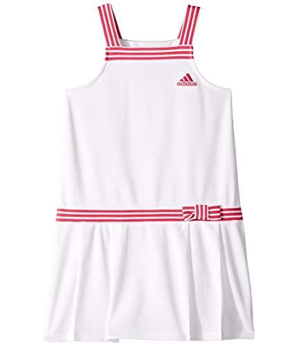 adidas Kids Girl's Tennis Dress (Little Kids) White 6X