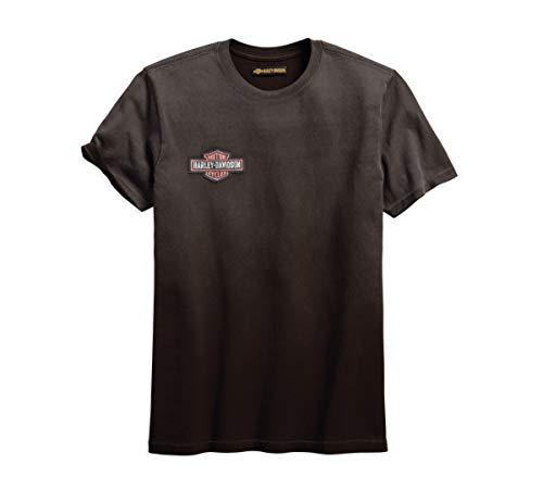 Harley-Davidson Official Men's Jersey Appliqué Slim Fit Tee, Grey ()