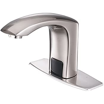 Brushed nickel touchless bathroom kitchen - Touchless bathroom faucet brushed nickel ...