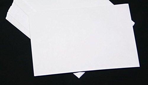 50 Stück Versandtaschen Briefumschläge B5 Weiß Haftklebung 176x250