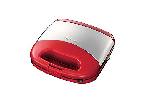 Vitantonio WAFFLE HOT SANDWICH BAKER Irons Red Color