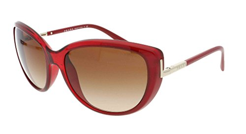 Prada Pr07os Sunglasses Iae1z1 Ruby Transp Grad Ruby Opal Brown Gradient 59 17 - Glasses Womens Prada Uk