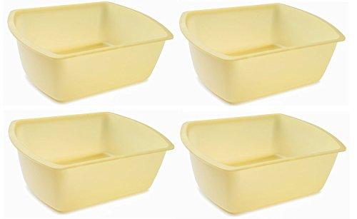 vakly-rectangular-plastic-wash-basins-yellow-8-quart-pack-of-4