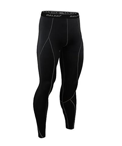 Baleaf Men's Running Fitness Workout Compression Base Layer Tights Black Size M
