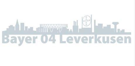 Bayer 04 Leverkusen Autoaufkleber Skyline Werkself, Aufkleber, Sticker, Carsticker,