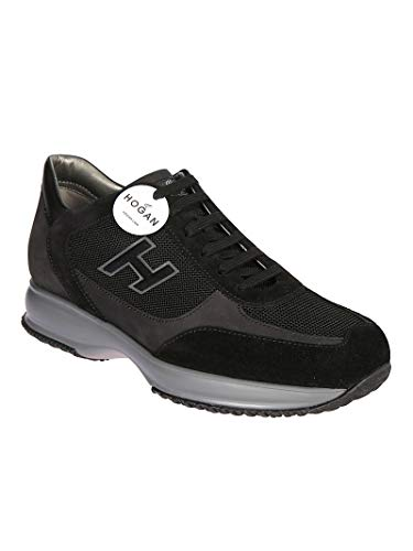 Faux Hogan Sneakers Men's Black Grey HXM00N0Q101JCF2737 Leather qxCRFP