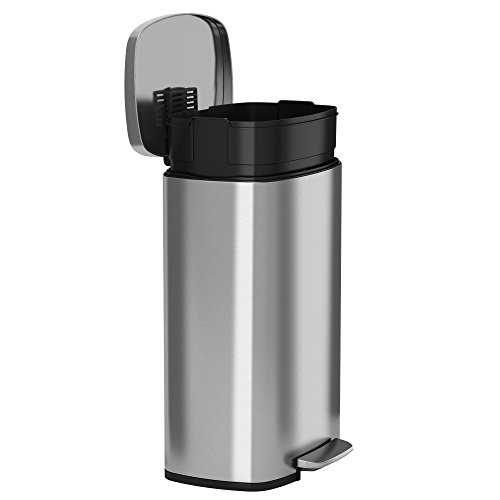 Homelabs 13 Gallon Touchless Trash Can Stainless Steel