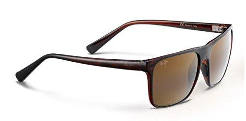 Maui Jim Flat Island Polarized Sunglasses Brown Stripe / HCL Bronze One - Island Maui Jim