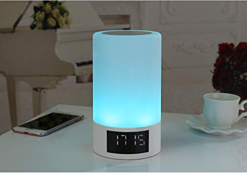 xingganglengyin Wireless Bluetooth Speaker Smart LED Bedside Light Touch Colorful Light with Alarm Clock Display Subwoofer by xingganglengyin (Image #6)