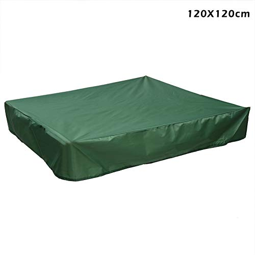 - abbort Dustproof Protection Sandbox Cover with Drawstring Waterproof Sandpit Pool Cover