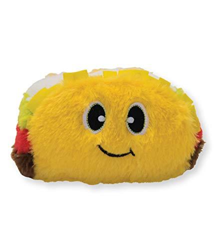 Outward Hound Fattiez Taco Grunting Dog Toy, Yellow]()