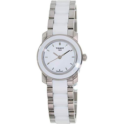 Tissot Women's T0642102201100 Cera Silver-Tone Ceramic Watch (White Watch Tissot)