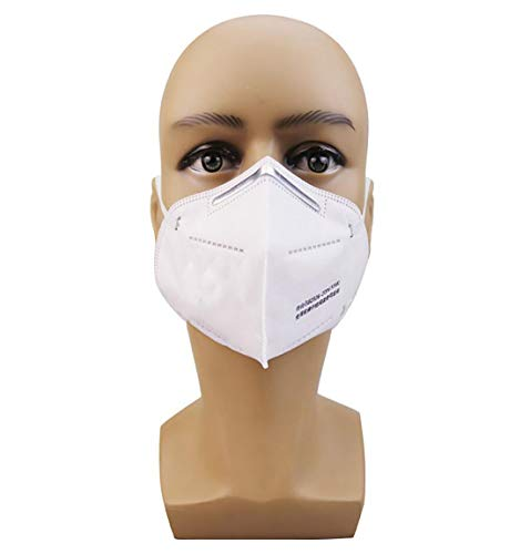 Face mask, BASDT KN95 Respirator Masks, Mouthguard for Protection Against Bacteria, Anti-Pollution Dust Mouth Mask (10 Pieces)