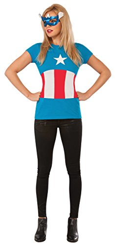 (Rubie's Marvel Women's Universe American Dream Classic T Shirt, Multi,)