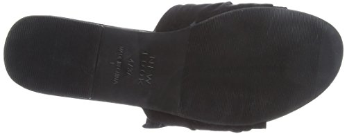 Femme 1 Sandales Ink Noir Black Look New Ouvert Bout wX8SWOqnP