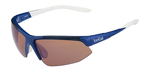 Bolle Breakaway Sunglass with Rose Blue Oleo AF Lens, Shiny ()