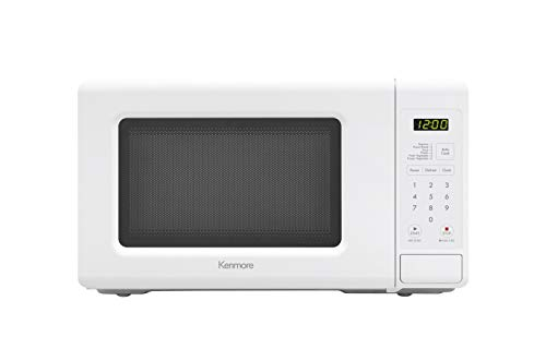 Kenmore Small Countertop Microwave, 0.7 cu. ft, White