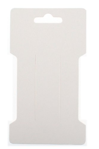 Trimweaver TW-DCARD-RCT-WHITE-100  100-Piece Rectangular Hair Clip Display Cards, Satin White