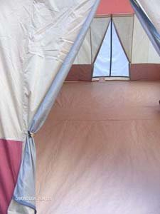 16′ x 10′ – 3 ROOM Family Cabin Tent, With Full, Wrap Around Roof Fly Plus 2 AWNINGS and 2 DOORS
