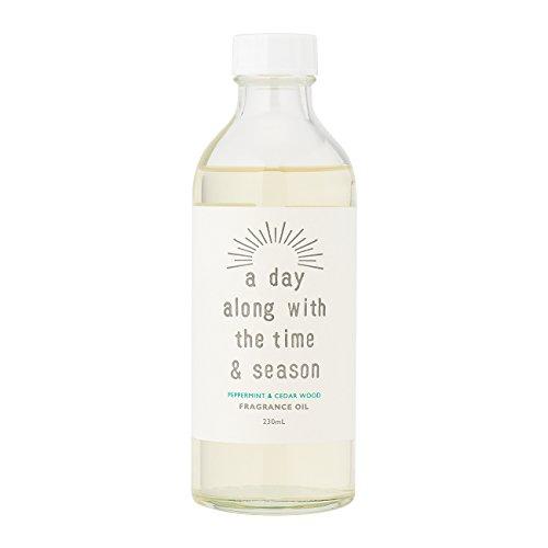 浴広大な学部長アデイ(a day) リードディフューザー リフィル ペパーミント&シダーウッド 230ml(芳香剤 詰め替え用 清涼感たっぷりのペパーミントにとてもまろやかな甘みのシダーウッドをあわせた香り)