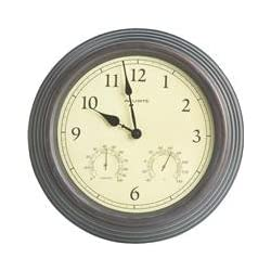 Chaney Instrument: 15 Inches Copper Thermom/Clock 01063 2Pk
