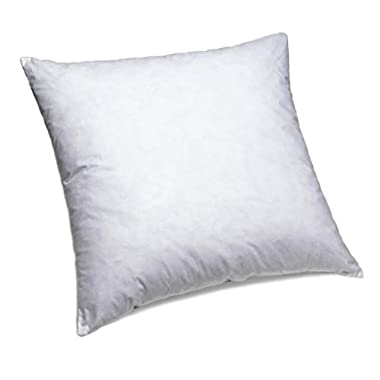 ComfyDown 95% Feather 5% Down, 20 X 20 Square Decorative Pillow Insert, Sham Stuffer - MADE IN USA
