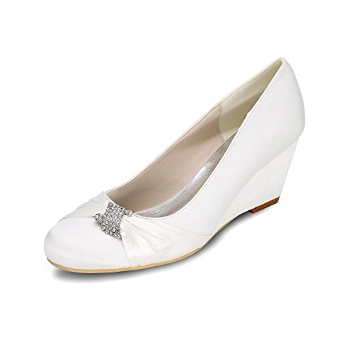 Shoes Toe 9140 Heeled 22 Multicolored L Wedding White Wedge Women'S Ballet YC Shoes P High qqzYwOv