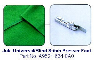 Juki Universal/Blind Stitch Serger Foot - A9521-634-0A0 by JUKI