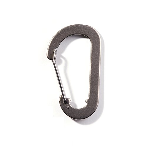 AMG Titanium Carabiner Lightweight Outdoor Camping Cookware Backpacking Hiking Accessory by AMG Titanium