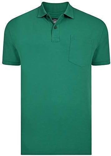 KAM Hombre Talla Grande Polialgodón Llano Polo Pique Camisa con ...